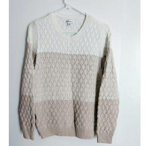 Tri-Colored Sweater size M